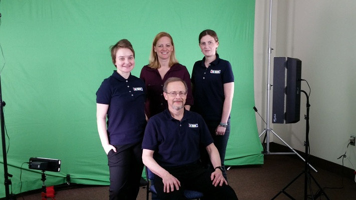 The Davideo Company crew on set of a shoot for non-profit company Advocates