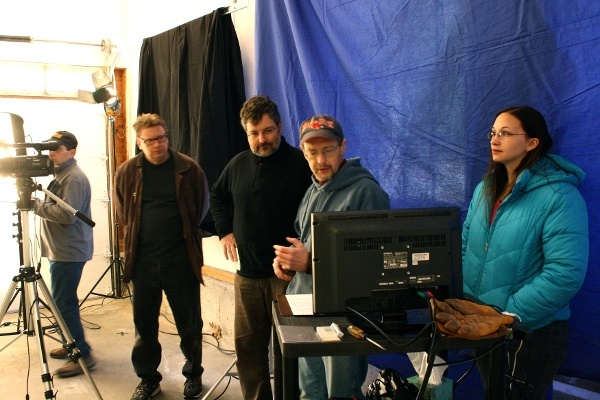 Executive Producer, Peter Stassa, and crew on set of a marketing video for Power Hydrant
