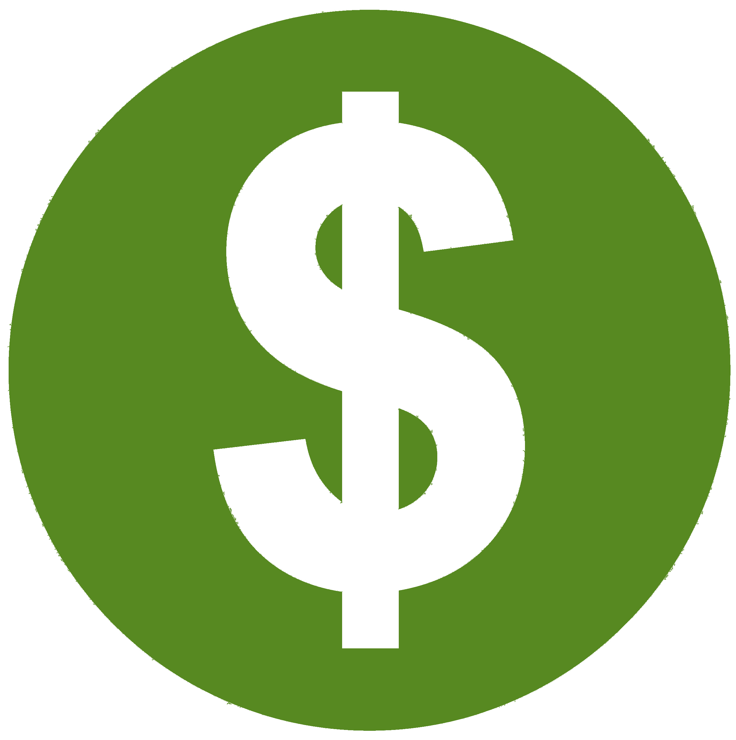 Video production services green dollar sign icon