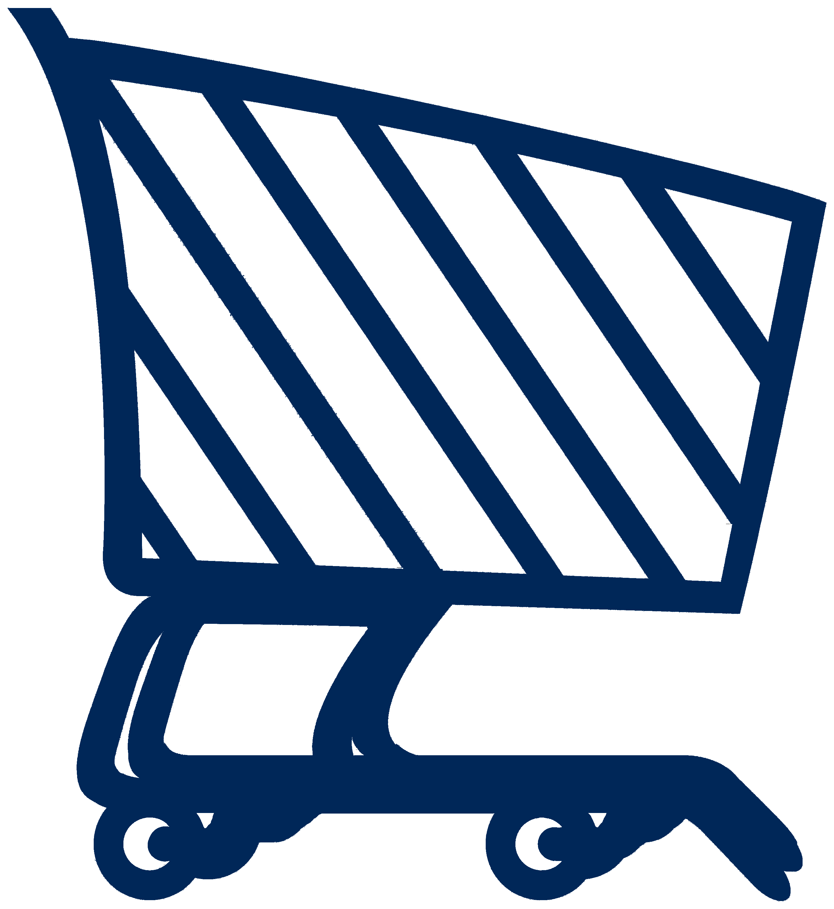 Video production services blue shopping cart icon